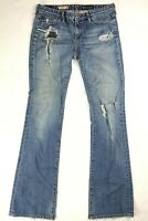 Adriano Goldschmied AG Womens Size 28 Blue Denim Angel Boot Cut Distressed Jeans