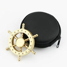New Pirate Rudder Brass Hand Spinner Tri Fidget Finger Focus Toy EDC ADHD Autism