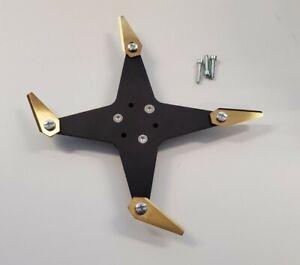 !NEU! Alu Blackline Eloxal Messer Upgrade Kit 4Cut für Worx Landroid L (228mm )