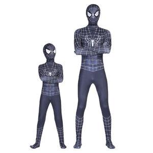 Black Venom Spider-man Cosplay Costume Kids Spiderman Zentai Suit Jumpsuit