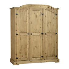 3 Door Wardrobe Corona Distressed Waxed Pine