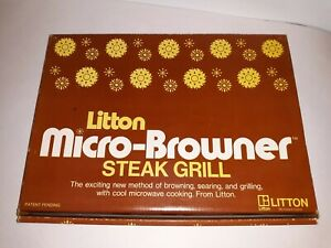 """LITTON """"Micro-Browner"""" Microwave L-2 STEAK GRILL w/Instructions & Recipes JAPAN"""