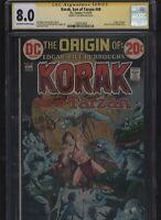 Korak, Son of Tarzan #49 CGC 8.0 SS Len Wein 1972 origin FRANK THORNE Joe Kubert