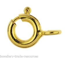 6mm 14ct Yellow Gold Filled Bolt Ring Jewellery Making Clasp Boltring