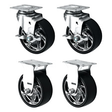 """Tool Box Swivel Braked/Fixed Replacement Castors, 4-Pack (125MM/5"""")"""