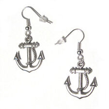 Cute New Tibetan / Antique Silver Nautical Anchor Dangle Drop Earrings