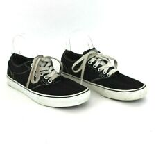 Vans Men Sneakers Size 9 Atwood Black White Lace Up Low Top Skate shoe