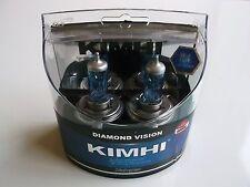 KIMHI H4 12V 60/55W DIAMOND VISION HALOGEN HEADLIGHT BULB COLOUR 8000K TWIN PACK