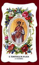 santino HOLY CARD S.TEMISTOCLE M. IN LICIA SANTINI