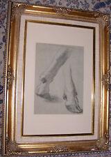"""Beau dessin par CHARLES JACQUE """" étude de pieds """""""