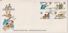 1090+ FDC ENVELOPPE 1er JOUR SWAZILAND JEUX OLYMPIQUES 1984