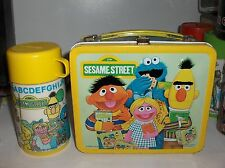 Sesame Street-Big Bird`1979`Muppets Inc.Metal Lunchbox & Thermos-:>Nice Upgrade