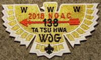 """NOAC 2018 Lodge 138 Ta Tsu Hwa (S?) """"Gold Bird"""" OA/BSA"""