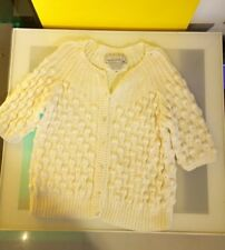 Needleworks by Spanner vintage knit sweater white good condition women's size M