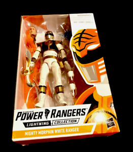 Mighty Morphin White Ranger Action Figure Power Rangers Lightning Collection NEW