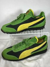 PUMA Anjan EXT Mens Sneakers Green Yellow Black Size 11.5