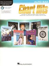 Chart Hits 12 akt. Pop Songs Play-Along Alt Sax Saxofon Noten mit Download Code