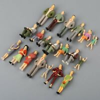 20Pcs 1:25 G Scale Model Painted Standing Sitting People Figures Garden Layout