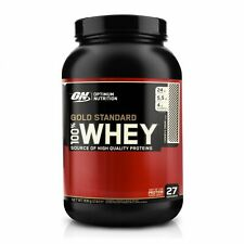 Optimum Nutrition Gold Standard Whey Protein Powder 908g 2lb -Cookies and Cream,