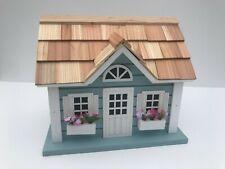 Home Bazaar Fledgling Series Hand-made Blue Nantucket Cottage Birdhouse