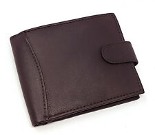 MENS REAL LEATHER LUXURY WALLET PURSE COIN POUCH CARD HOLDER ID WINDOW 340 BROWN