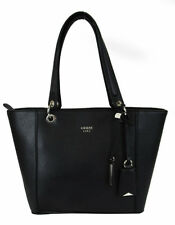 "** GUESS ""KAMRYN"" Black Saffiano Leather Tote Bag Msrp $98.00"