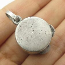 Vtg 925 Sterling Silver Pill Box Small Case Container Pendant