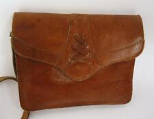 VINTAGE BROWN LEATHER SATCHEL HANDBAG SHOULDER BAG