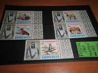 "FRANCOBOLLI FUJEIRA 1965 ""ANIMALI UCCELLI ANIMALS""NUOVI MNH** SET (CAT.X)"