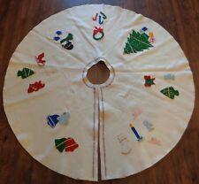 CHRISTMAS TREE SKIRT Felt Completed Made from Kit VINTAGE