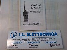 MANUALE IN ITALIANO istruzioni d'uso per ICOM IC-W21AT/ET