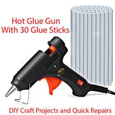 Hot Melt Glue Gun +30 Refill Sticks DIY Easy Quick Repair Kit Design Art Crafts