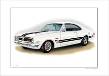 HOLDEN HT GTS MONARO   LIMITED EDITION CAR DRAWING  PRINT  ( 5 CAR COLOURS)
