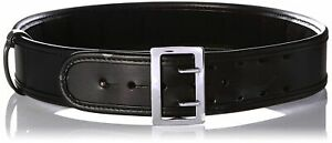 Bianchi 7960 AccuMold Elite Sam Browne Belt - Plain Black, Chrome, Size 30 22214