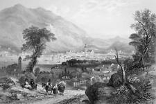 ITALY Como - 1864 Fine Quality Print Engraving