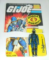 1983 GI Joe Cobra The Enemy Soldier Swivel Arm Figure File Card Back *Complete