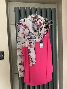 wallis Size 14 Cami With Scarf And Jewellery