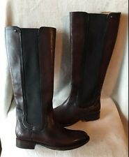 Frye Lindsay Gore Tall NEW Chocolate Brown Knee High Boots SZ US 5.5 B