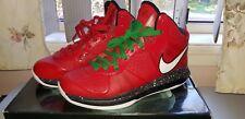Nike LeBron 8 VIII 'Christmas' XMAS Red - Sz 9 US  .. kobe lakers grinch