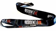 1 New Resident Evil 7 Biohazard Lanyard Black w/ J Hook Limited Edition Zombie