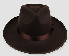 coffee Unisex Men Black Jazz Wool Trilby Bowler Fedora Panama Hat Gangster Cap