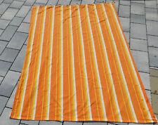 vintage RIDEAU 1960 orange ORIGINAL art DECO design FLOWER POWER curtain VORHANG
