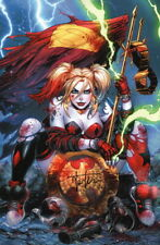 Tyler Kirkham SIGNED DC Comic / Batman Art Print ~ Harley Quinn Defeats the JLA