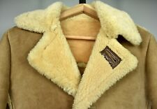 INSANE Vintage SCHOTT Heavy Sheepskin Shearling Leather Suede Jacket 34 36 USA