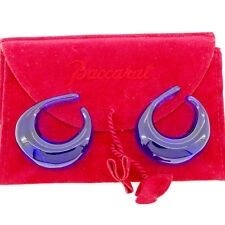 Baccarat Earrings Blue Woman unisex Authentic Used T3577