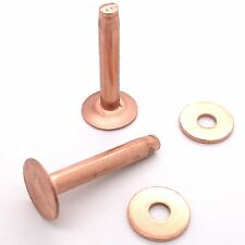 """Copper Rivets & Burrs # 9 1"""" (2.5 cm)  50 Pk 11282-00 by Tandy Leather"""