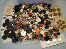 Lot Sewing Buttons ~Most  Vintage ~Most Plastic ~Some Cards ~Estate Find (B69
