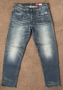 Men's G STAR  MORRY 3D Relaxed Slim JAPANESE SELVEDGE DENIM Jeans, RRP 329$, NEW