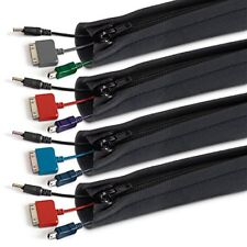"20"" Cable Management Sleeves Flexible Neoprene Wire Organizer, 4-pack"