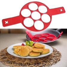 7Holes Nonstick Ring Pancake Cook Egg Mold Maker Cheese Cooker Pan Flip Egg Tool